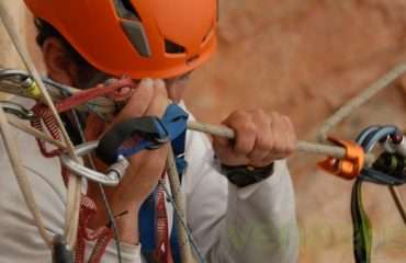 Abseiler Holding The Line