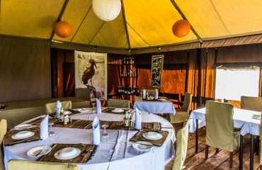 Ang'ata Camp Ngorongoro, Mess Tent, inside