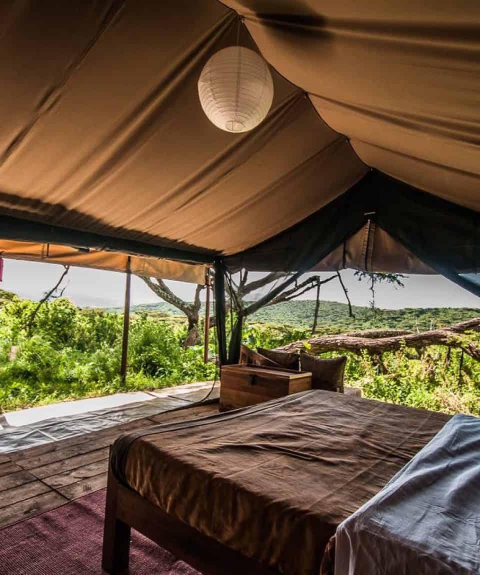 Ang'ata Ngorongoro - Kingsize Bed Tent