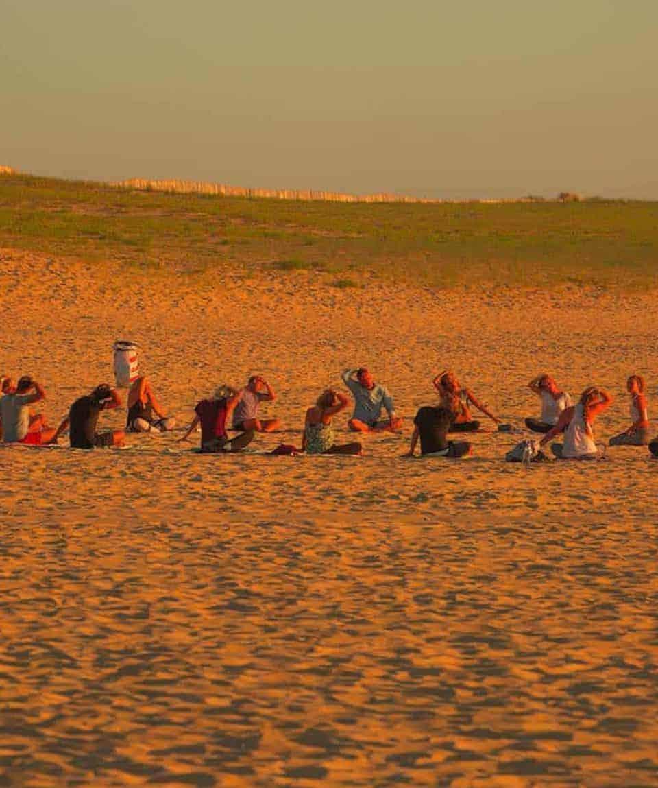 Beach Yoga Session