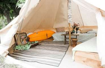 Your Surf Camp Tent Awaits