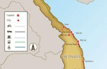 Saigon to Hanoi map