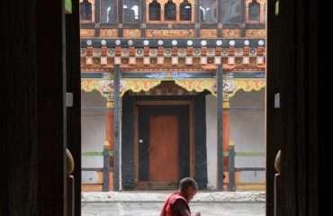 Monk through Door